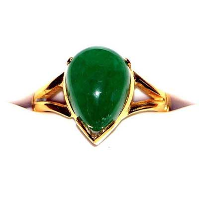 emerald ring in 20k gold ninegemstones